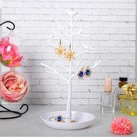 Подставка для украшений 'Птички на дереве', 15,5*15,5*32 см, цвет белый
