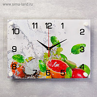 """Часы настенные, серия: Кухня, """"Цитрусовые"""", 25х35 см, микс"""