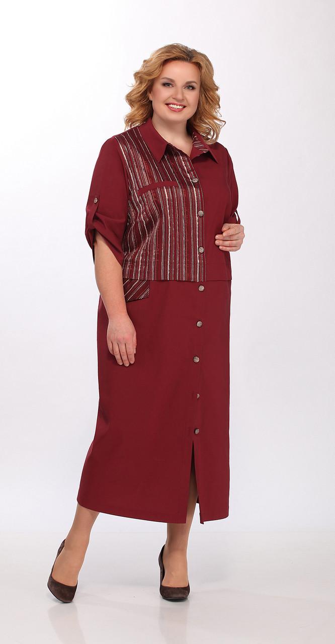 Платье Lady Secret-3596/1, бордо, 62