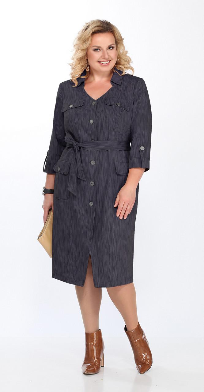 Платье Lady Secret-3606, серо-синий, 54