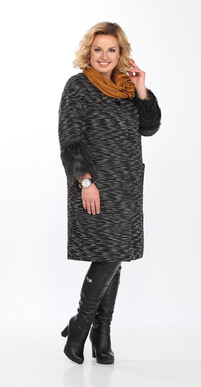 Пальто Lady Secret-6218, черный, 52