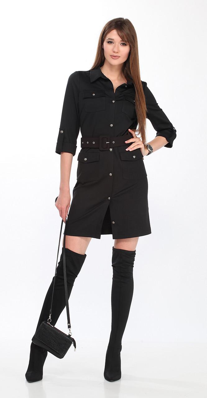 Платье DOGGI-3607, черный, 42