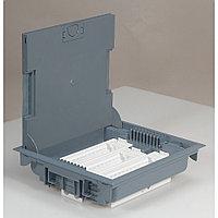 Напольная коробка, горизонтальная, 18 модулей, крышка из стали с анти-коррозионным покрытием, цвет серый, фото 1
