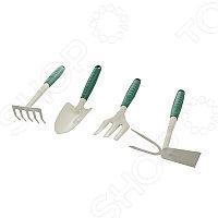 Набор RACO садовый: совок 4207-53481, мотыжка -53486, грабли веерные -53492, вилка посадочная -