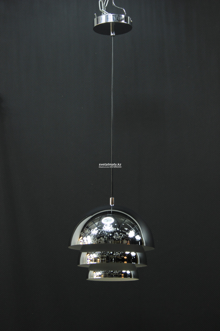 Светильник потолочный одноламповый хром д,20 в стиле Модерн-хайтек