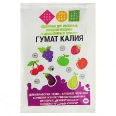 Удобрение для овощных, плодово-ягодных и декоративных культур Гумат калия (10 г)