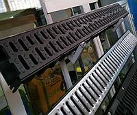 Поверхностный водоотвод. Канал с пластиковой решеткой 125х80х1000мм Steelot (Стилот) Whats Upp. 87075705151