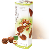 Шоколадные чипсы Belgian Chocolate Thins Hazelnut с Фундуком 80 гр