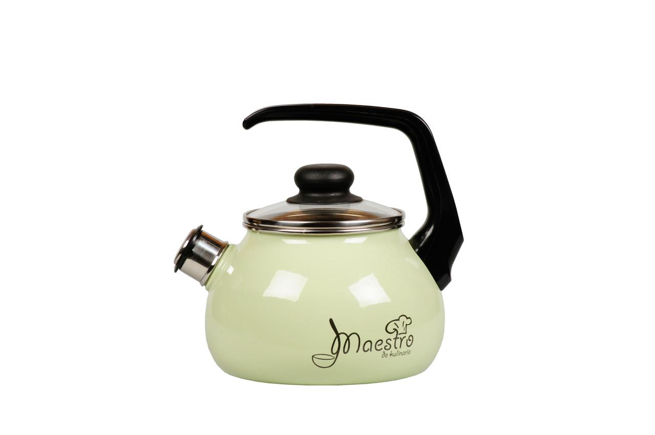 Чайник эмалированный со свистком Maestro 2 литра