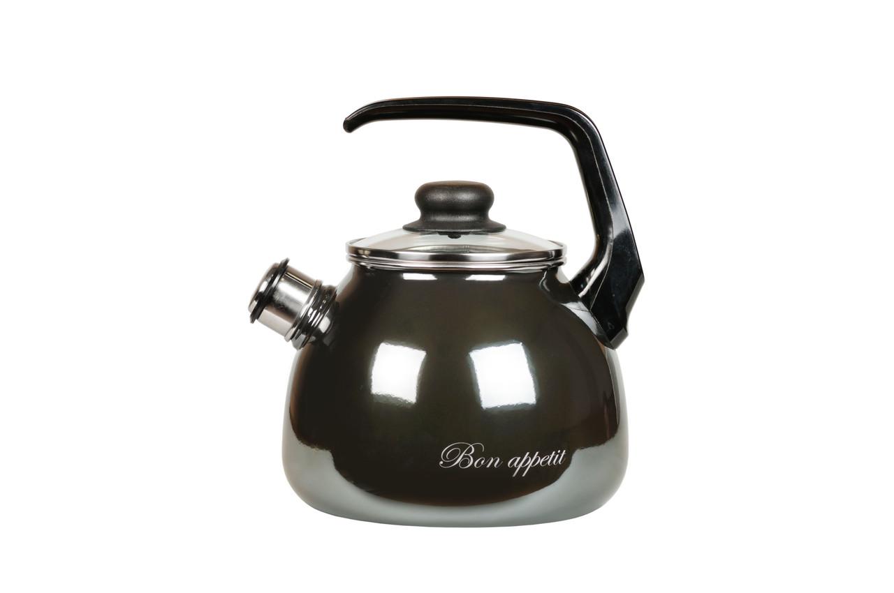 Чайник эмалированный со свистком Bon appetit 2 литра