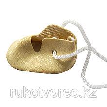 Ботиночки для кукол, 4,0см, 2 пары, цв.молочный