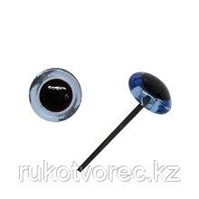 Глазки на металлической ножке голубые 6 мм