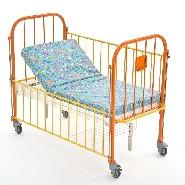 Кровать детская 2-х секционная с регулировкой высоты и наклона ложа. КМФД-7310 Оранж.