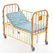 Кровать детская 2-х секционная с регулировкой высоты и наклона ложа. КМФД-7310 Оранж., фото 1