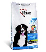 1st Choice Adult сухой корм для собак средних и крупных пород (с курицей) 15 кг., фото 1