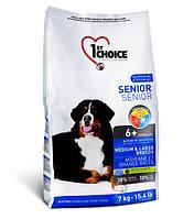 1st Choice Senior сухой корм для пожилых собак средних и крупных пород (с курицей) 7 кг., фото 1