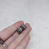 Бусина Ганеша из серебра, 11*10мм, фото 4