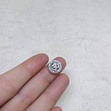 Бусина Ом из серебра, 10*4мм, фото 3