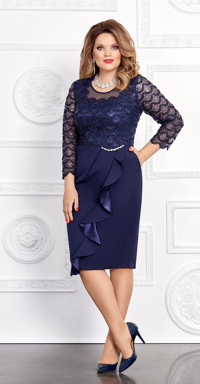 Платье Mira Fashion-4562, тёмно-синий, 50