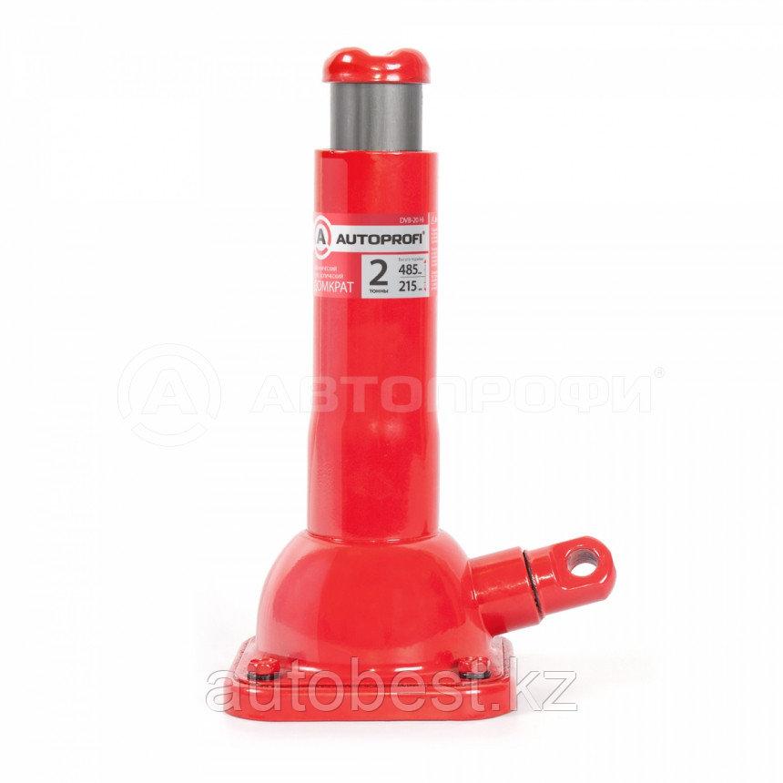 Домкрат механический AUTOPROFI, винтовой, бутылочный, 2т., высота подъёма 215 - 485 мм, 1/6
