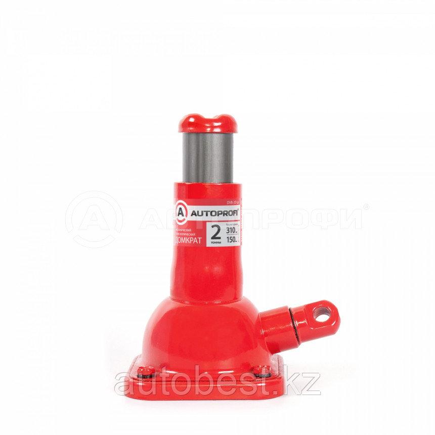 Домкрат механический AUTOPROFI, винтовой, бутылочный, 2т., высота подъёма 150 - 310 мм, 1/6