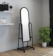 Зеркало напольное 160х38 см на колесиках цвет черный