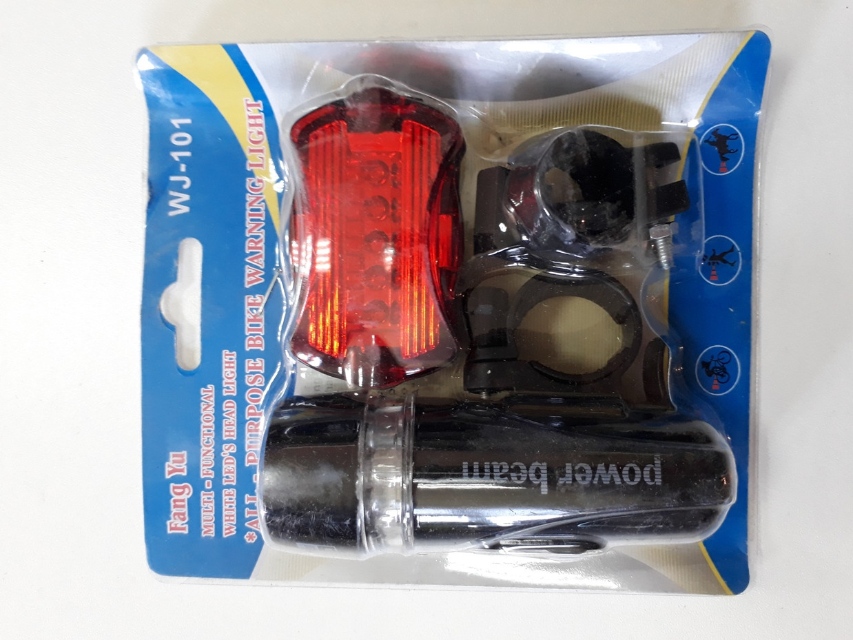 Набор фонариков - передний и задний на батарейках Fang Yu