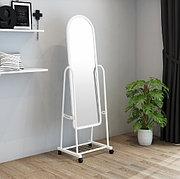 Зеркало напольное 160х38 см на колесиках цвет белый