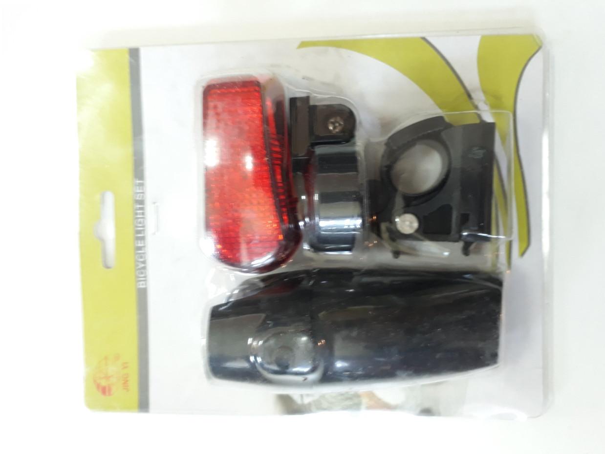 Набор фонариков - передний и задний на батарейках