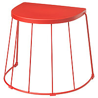 Табурет/приставной ТРАНАРЁ стол,д/дома/сада, красный ИКЕА, IKEA