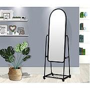 Зеркало напольное 160х45 см на колесиках цвет черный