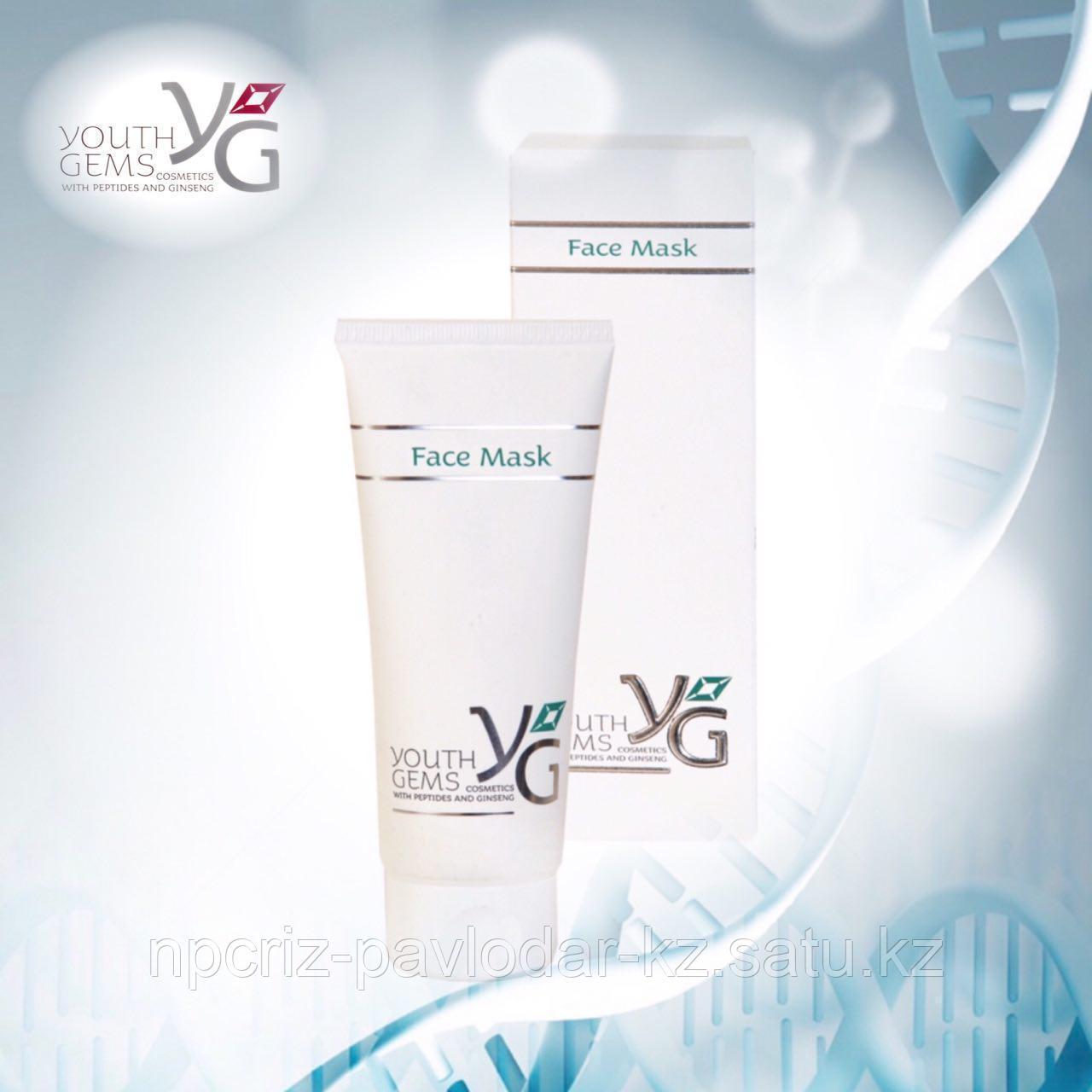 Маска для лица Youth Gems с пептидами и экстрактом женьшеня 100 мл