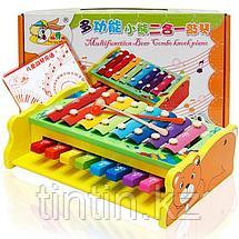 Деревянная игрушка 2 в 1 - Ксилофон и Пианино, фото 2