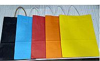 Пакет бумажный подарочный цветной из крафт бумаги