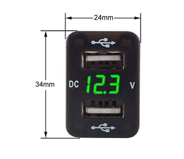USB кнопка для toyota с вольтметром