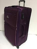 Большой дорожный чемодан на 4-х колесах Polo Collection.Ткань.Высота 77 см,длина 42 см, ширина 26 см., фото 1