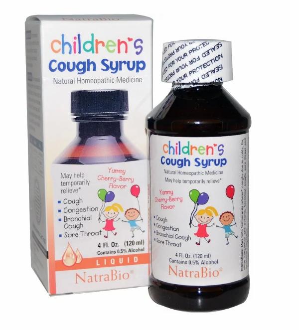 NatraBio, Детский сироп от кашля с вишневым вкусом, 120 мл