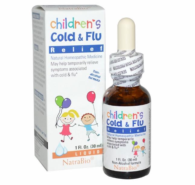 NatraBio, Средство от простуды и гриппа для детей, 30 мл