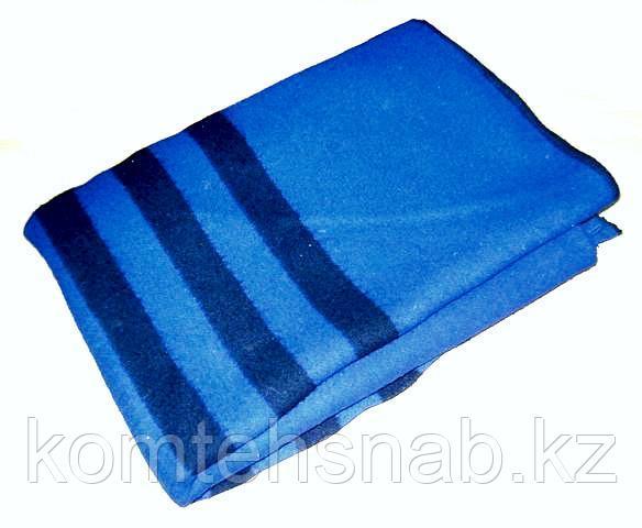 Одеяло армейское п/шерстяное, гладкоркашенное с полосой, размер 140-205 см