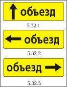 Дорожный знак 5.32.1-5.32.3