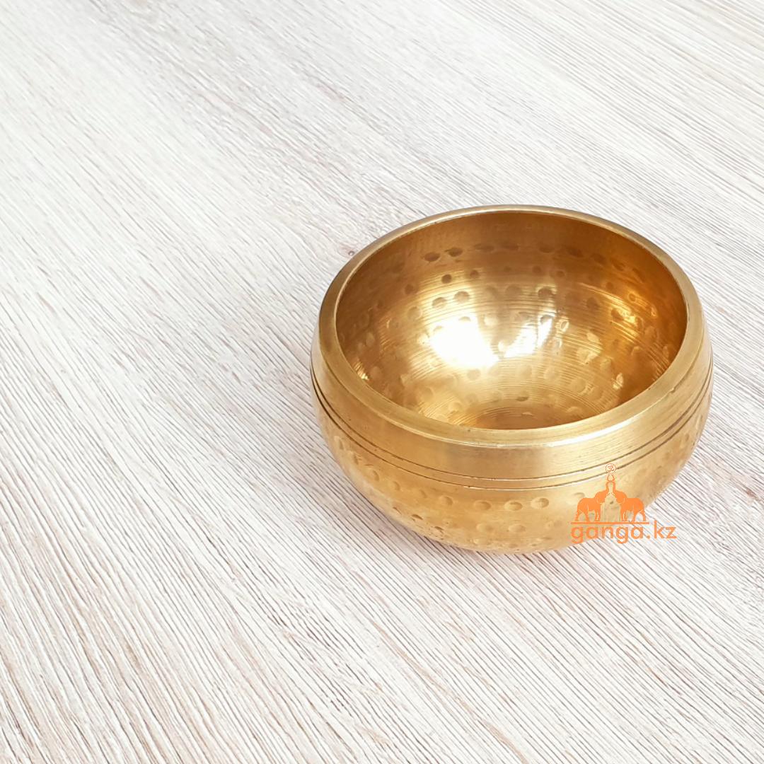 Поющая чаша Золотистая, 8.5 см