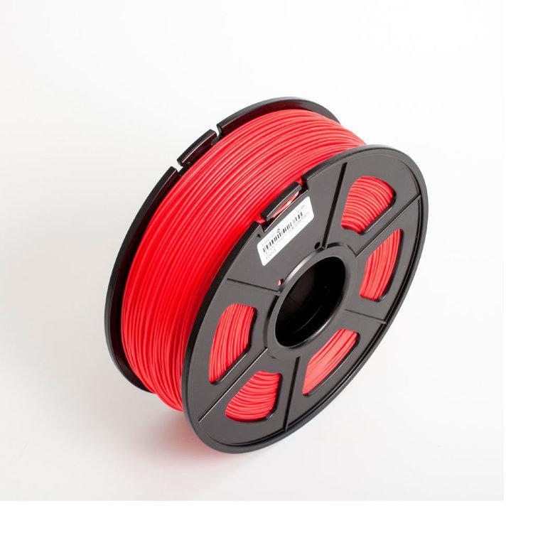 Пластик для 3D принтеров PLA+,SUNLU, красный