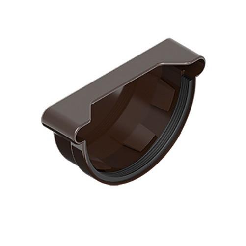 Заглушка желоба универсальная  INES коричневого цвета 120 мм