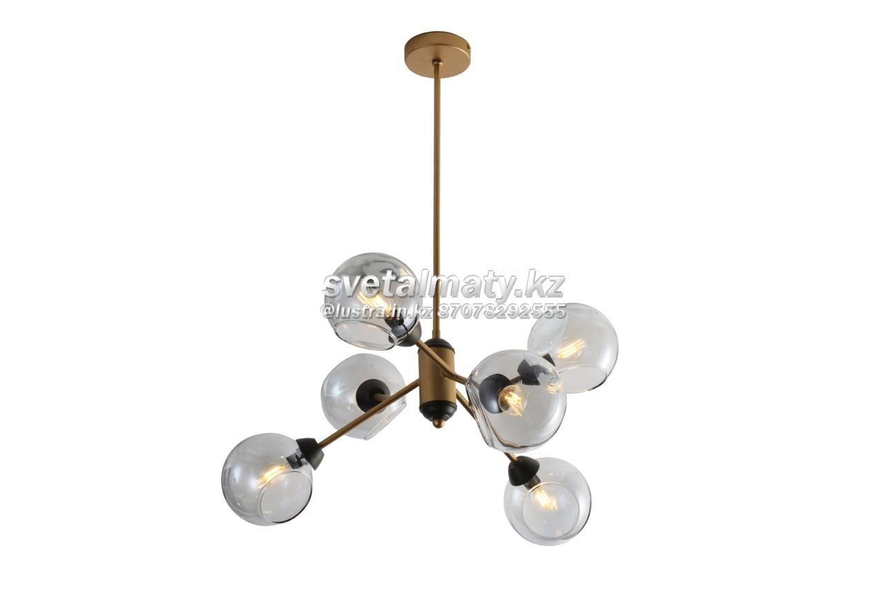 Люстра потолочная 6-ти ламповая в стиле Модерн-хайтек