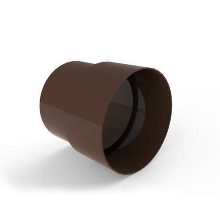 Соединитель трубы  INES 80 мм коричневого цвета.