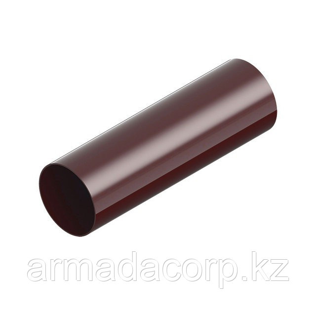 Труба водосточная INES коричневого цвета.