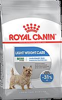 Royal Canin Mini Light Weight Care Сухой корм для собак мелких пород склонных к избыточному весу