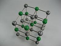 Набор кристаллических решеток оксида углерода, поваренной соли