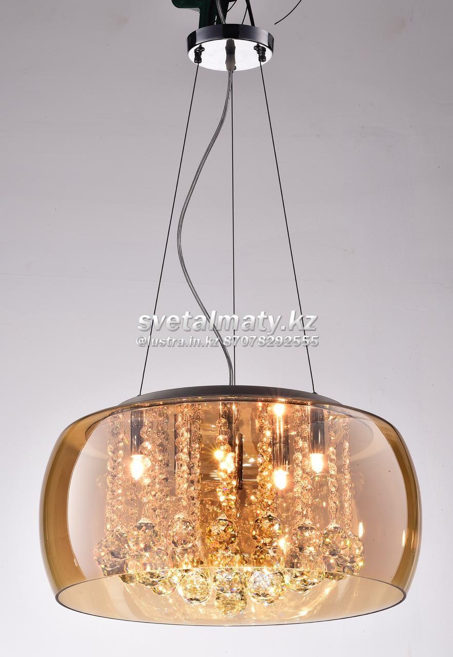 Люстра потолочная/подвесная 5-ти ламповая медное стекло в стиле Модерн