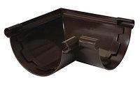 Угол желоба 90*  INES 120 мм Коричневого цвета.